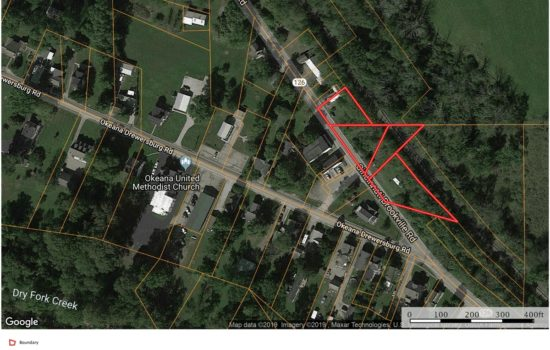 Commercial lot of 1.3 acre in Okeana with lots of potential!