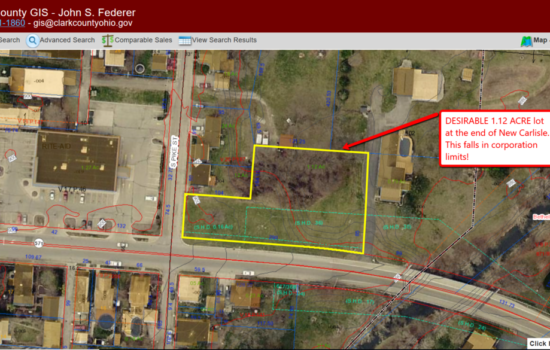 1.12 acre lot at the end of of New Carlisle in Clark County OH!